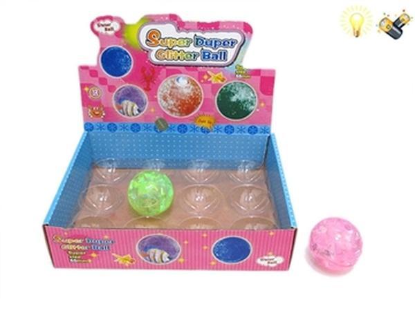 Мяч JAMBO (арт. M698) прыгун,свет,звук,резина,5,5 см,12 шт.   Артикул: 07000698