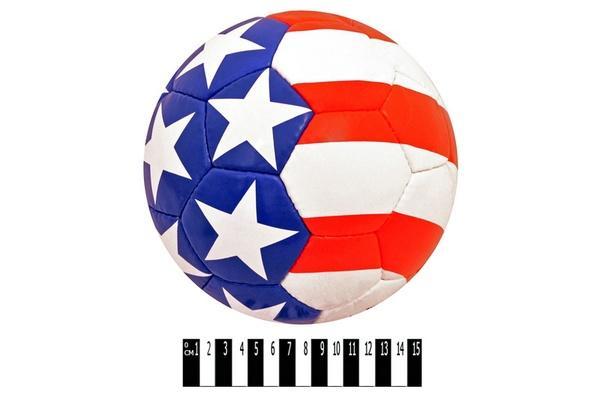 """М`яч  футбол. """" USA-117 """" (синтет.лаков. шкіра PU, 4 шари підкладкової тканини з поліестеру , 4   Артикул: 07001717"""