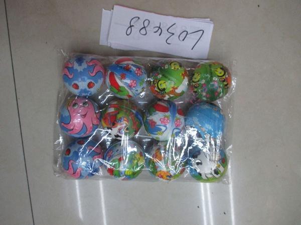 Мяч фомовый L03488 (480шт) 6 цветов 12 штук в пакете   Артикул: 07003488