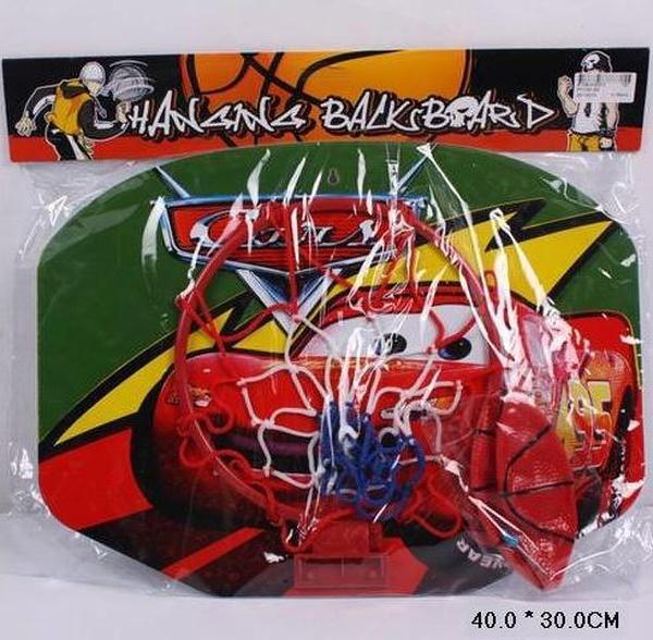"""Баскетбольный набор FY1121-6D (30012) (120шт/2)""""Тачки"""" корзина, мяч,в пакете 40*30см   Артикул: 07011216"""