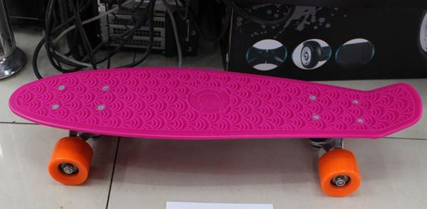 Скейт BT-YSB-0017 пластик.+ алюм.PVC колеса 55мм 4цв.56*14,5см кор.ш.к./12/   Артикул: 07020017