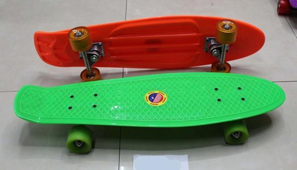 Скейт BT-YSB-0021 пластик.+ алюм.PU колеса 6цв.62*19см 1,90кг кор.ш.к./8/   Артикул: 07020021