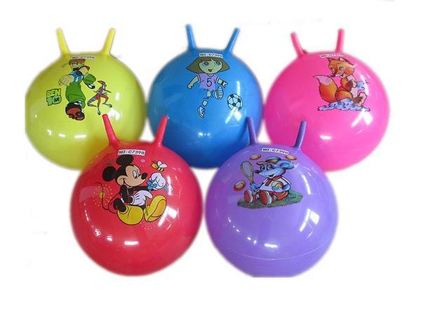 Мяч для фитнеса (арт. C7398), рожки,мульт герои, 5 видов, 55x55x55см Jambo 100818311   Артикул: 07037398