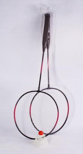 Бадминтон 191217 (50шт) 2 ракетки + воланчик, в сетке 62 см   Артикул: 07191217
