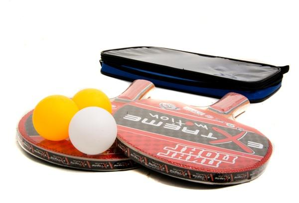 Теннис настольный T0115 (30шт) 2 ракетки + 3 мячика,7 мм, в чехле 25*15 см   Артикул: 07500115