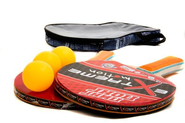 Теннис настольный T0116 (40шт) 2 ракетки+3 мячика,7 мм,в чехле 25*15см   Артикул: 07500116