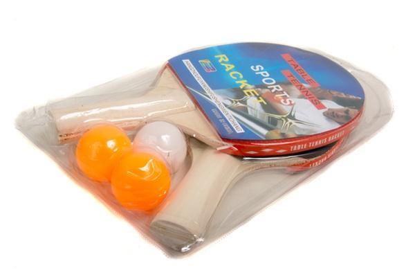 Теннис настольный PP0102 (50шт) 2 ракетки, 3 мяча, 7 мм   Артикул: 07600102