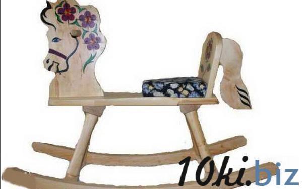 Коник -качалка з березового масиву, розписаний вручну 60см*80см   Артикул: 08000160 Детские кресла-качалки и шезлонги в Украине