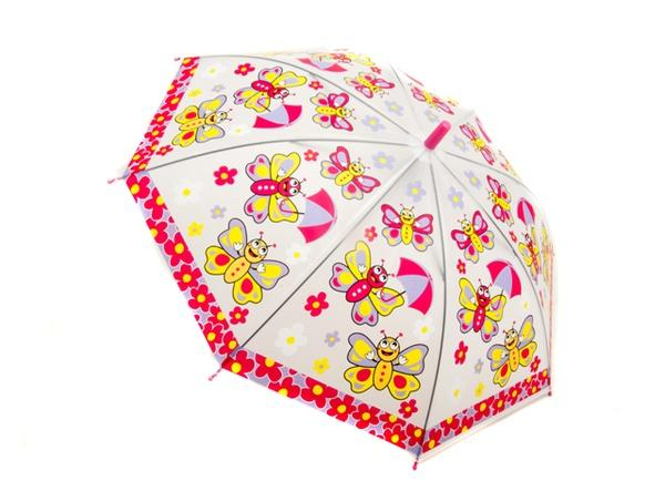 Зонтик детский MK 0456 (60шт) свисток, 54см, 5 видов, в кульке, 65,5-4см   Артикул: 08000456