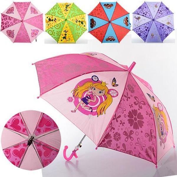 Зонтик детский MK 0206-1 (60шт) длина49см,трость61,5см,диам.78см,спица44см,ткань,рисун,6видов   Артикул: 08002061