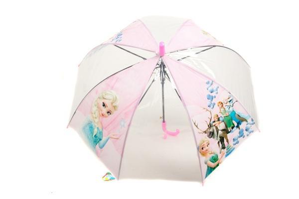 Зонтик детский MK 0865 (60шт) FR. длина53,5см, трость65см,диам.74см,спица47см,свисток,клеенка,4вида   Артикул: 08009016