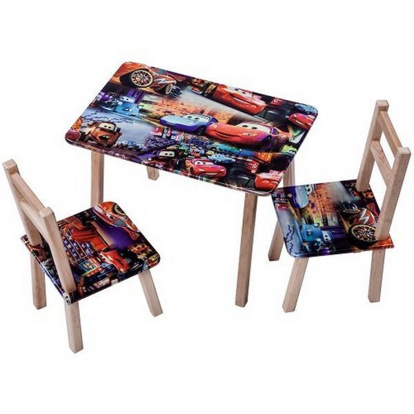 """Столик + 2 стульчика """"ТИПА ТАЧКИ"""" (размер 600*460)   Артикул: 08482034"""