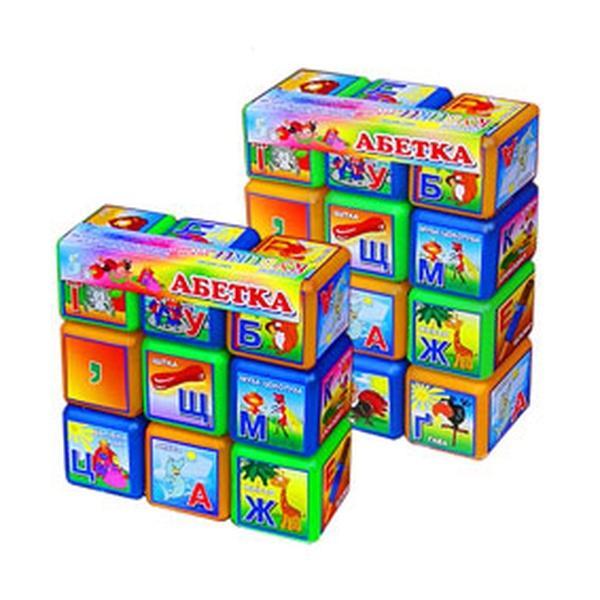 """Кубики """"Абетка""""12шт.(24)   Артикул: 09130117"""