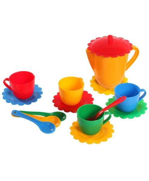 """Набір посуду  """"Ромашка"""" на 4 персони з чайником ЛЮКС   Артикул: 09390854"""