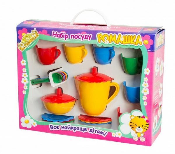 """Набір посуду """"Ромашка""""  в коробці 22 ел.   Артикул: 09391325"""