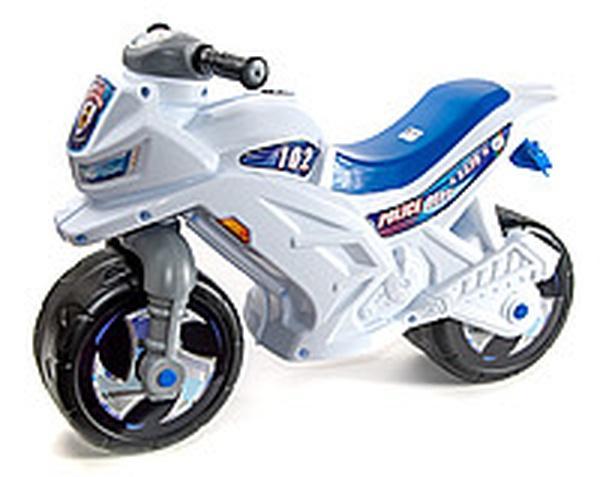 Мотоцикл 2-х колесный БЕЛЫЙ (каска, жезл)   Артикул: 09600501