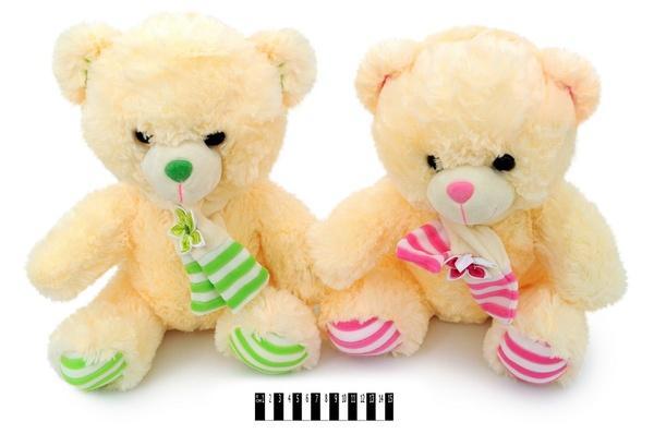 Ведмедик  з шарфом  40 см. муз. (2 кол.) 3270\40 (12шт/ящ)   Артикул: 10007040