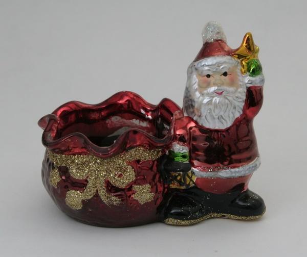 """Подсвечник  """"Санта Клаус"""" 0301083501   Артикул: 10010839"""