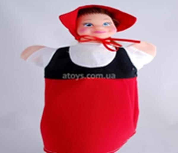 """Лялька-рукавиця """"ЧЕРВОНА ШАПОЧКА"""" (пластизоль, тканина)   Артикул: 10100074"""