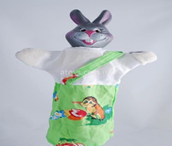 """Лялька-рукавичка """"ЗАЄЦЬ"""" (пластизоль, тканина)   Артикул: 10100077"""