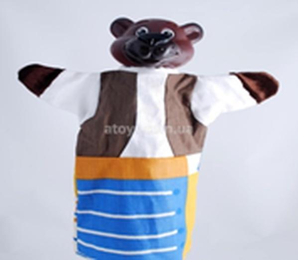 """Лялька-рукавиця """"ВЕДМІДЬ"""" (пластизоль, тканина)   Артикул: 10100075"""