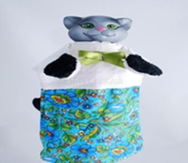 """Лялька-рукавиця """"КІШКА"""" (пластизоль, тканина)   Артикул: 10100081"""