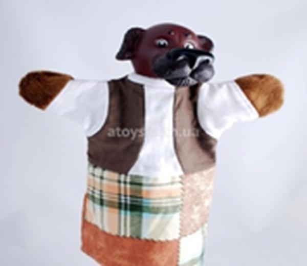 """Лялька-рукавиця """"СОБАЧКА"""" (пластизоль, тканина)   Артикул: 10100083"""
