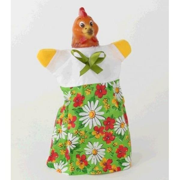 "Лялька-рукавиця ""КУРКА"" (пластизоль, тканина)   Артикул: 10100085"
