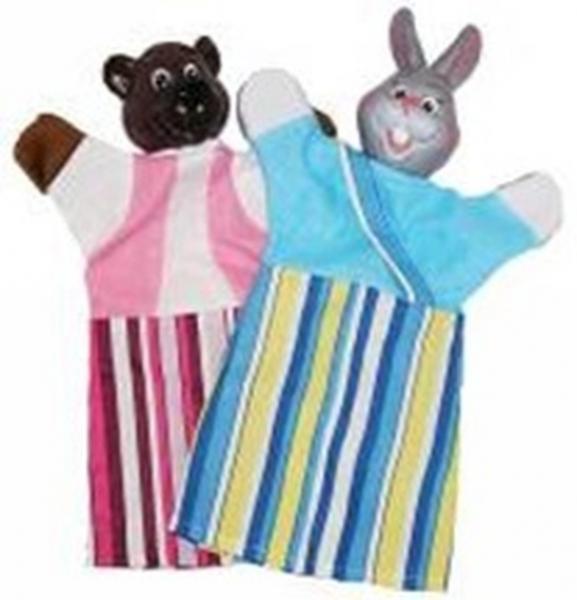 """Набір ляльок-рукавиць """"ВЕДМІДЬ І ЗАЄЦЬ"""" (2 персонажі)   Артикул: 10107577"""