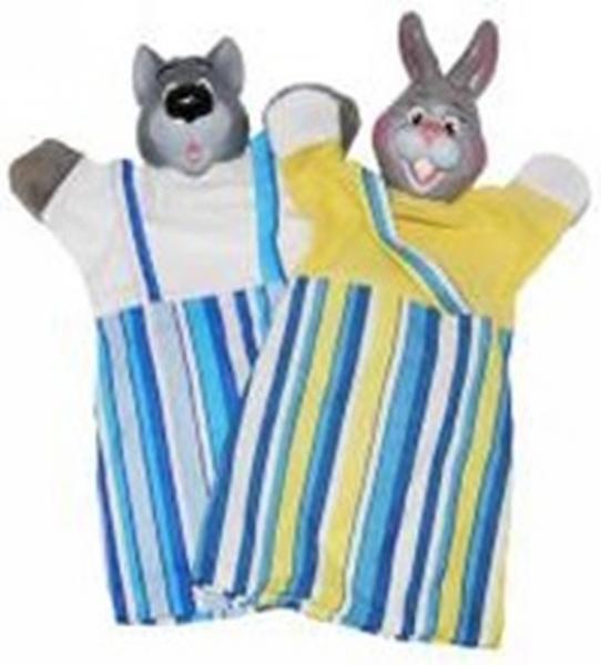 """Набір ляльок-рукавиць """"ВОВК І ЗАЄЦЬ"""" (2 персонажі)   Артикул: 10107677"""