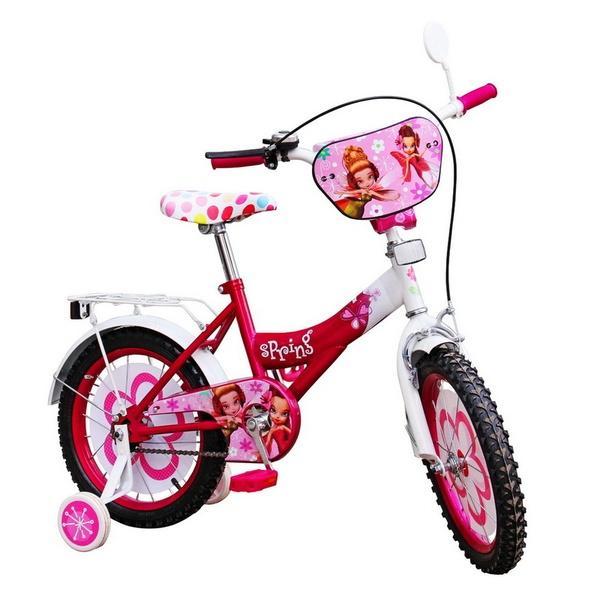 Велосипед 2-х колес 14'' 151401 (1шт) со звонком,зеркалом,руч.тормоз   Артикул: 11151401