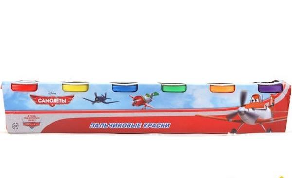 """Пальчиковые краски 650FP-DP (48шт/2) """"Играем вместе"""" Самолеты, 6цветов*50 мл,  в короб.   Артикул: 12000650"""