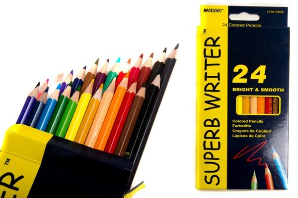Карандаши  24 цвета шестигранные, Superb Writer,  Marco   Артикул: 12021112
