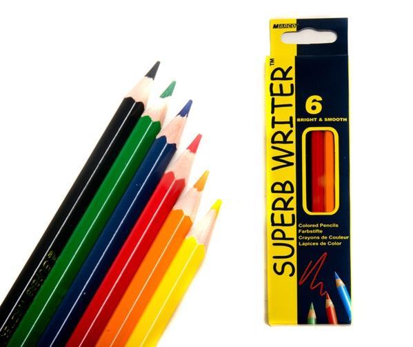 Карандаши  6 цветов шестигранные, Superb Writer,  Marco   Артикул: 12021114