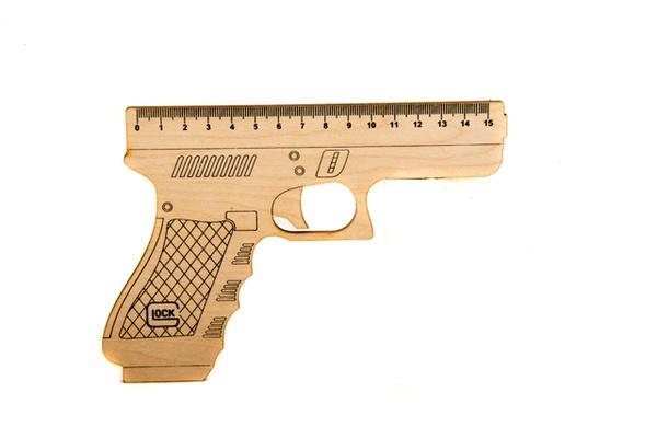 """Пістолет-лінейка """"Glock"""" , 15 см   Артикул: 13002001"""