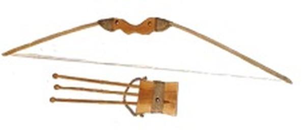 Лук буковий 85см зі чохлом для стріл та три стріли   Артикул: 13171872
