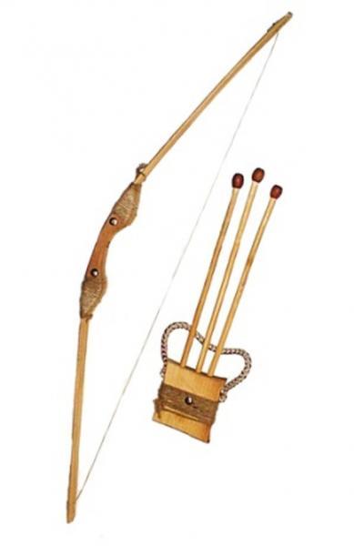 Лук буковий 55см зі чохлом для стріл та три стріли   Артикул: 13171874