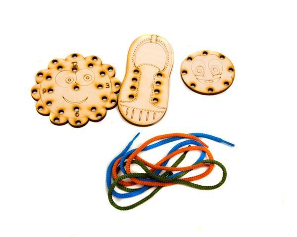 Дерев'яна шнурівочка: Шнурівочка-Навчалочка   Артикул: 13456968