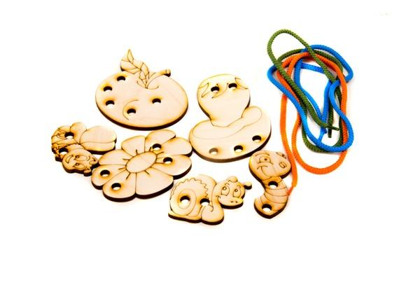 Дерев'яна шнурівочка: Шнурівочка - Для найменших   Артикул: 13456975