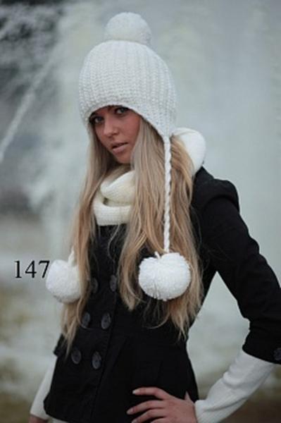 Шапка для девочки (7-10+) 147 -52 см   Артикул: 14000020