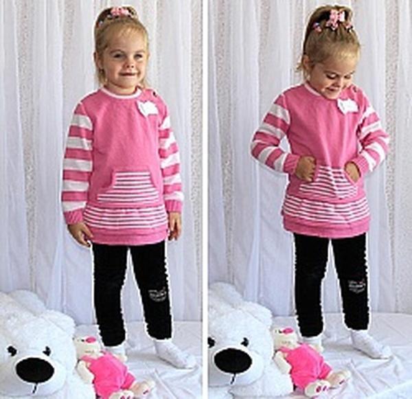 """Платье """"Миленка"""" хлопок/акрил розовый -104 см   Артикул: 14003614"""
