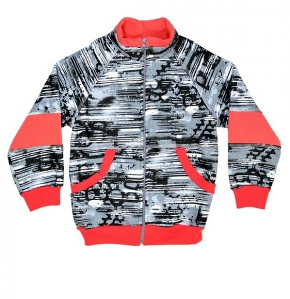 Курточка комбінована на блискавці, комір стійка, з манжетами і поясом (Байка товста) 104/3 (0307.21.104/3)   Артикул: 14030704
