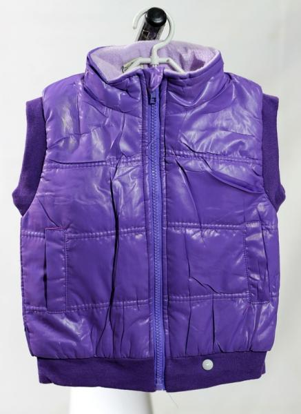 Детская жилетка, Hongjiajia,  18 размер, длина- 42см, ширина-36см, фиолетовый, (Китай)   Артикул: 14033818