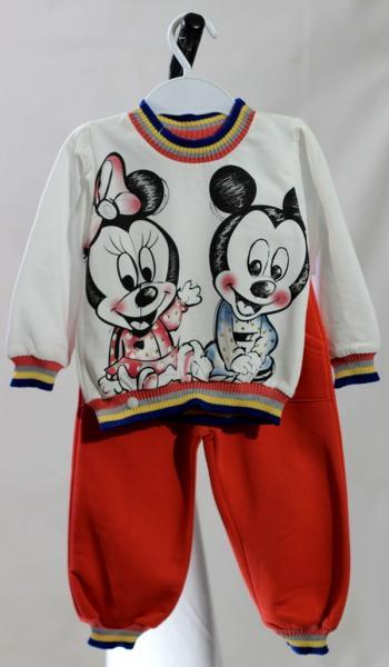 Спортивный костюм для девочек Canisi, 80-86 см, бело-красный, (Турция)   Артикул: 14037080