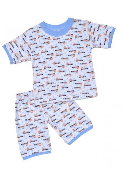 Піжама для хлопчика: футболка з рукавом, шорти ( Рибана без лікри з набивкою, 92/1) (1028.47.92/1)   Артикул: 14102892