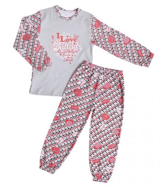 Піжама для дівчинки (Інтерлок пені з малюнком, 134/3) (1033.71.134/3)   Артикул: 14111343