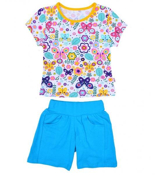 Костюм для дів: футболка, шорти (Кулір стрейч) Р - 128 (11358.85.128)   Артикул: 14135828