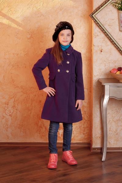 Пальто-кашемир (фиолетов.)   Артикул: 14201567