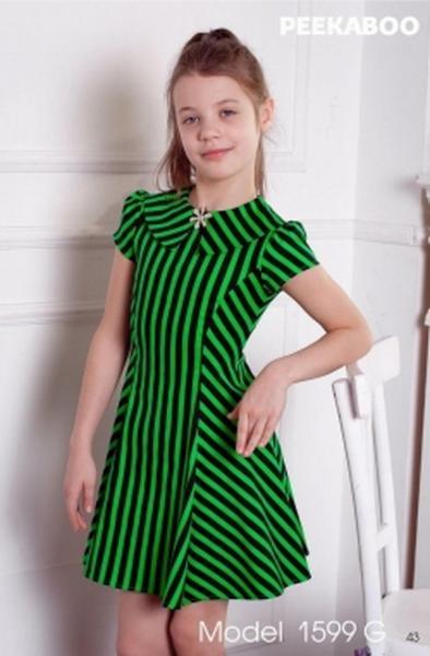 Платье Peekaboo полоска (с воротником) (1599 G)   Артикул: 14201599