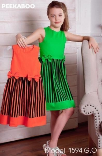Платье Peekaboo (юбка-полоска)с бантиками (1594О)   Артикул: 14211594